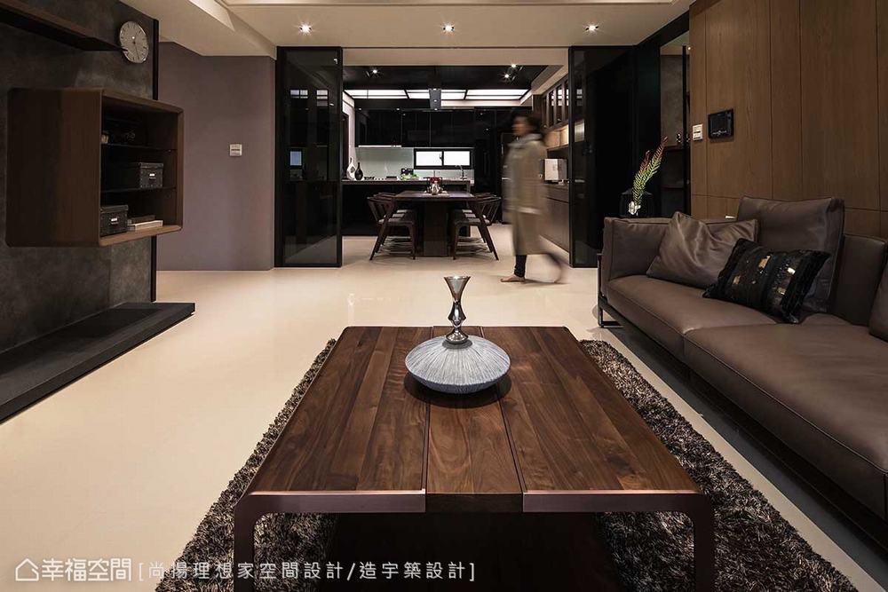 三居 现代 客厅图片来自幸福空间在层迭馨暖 渲染165平沉稳静谧之家的分享