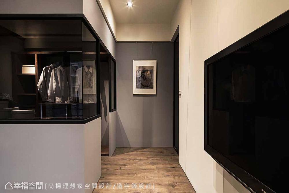 三居 现代 衣帽间图片来自幸福空间在层迭馨暖 渲染165平沉稳静谧之家的分享