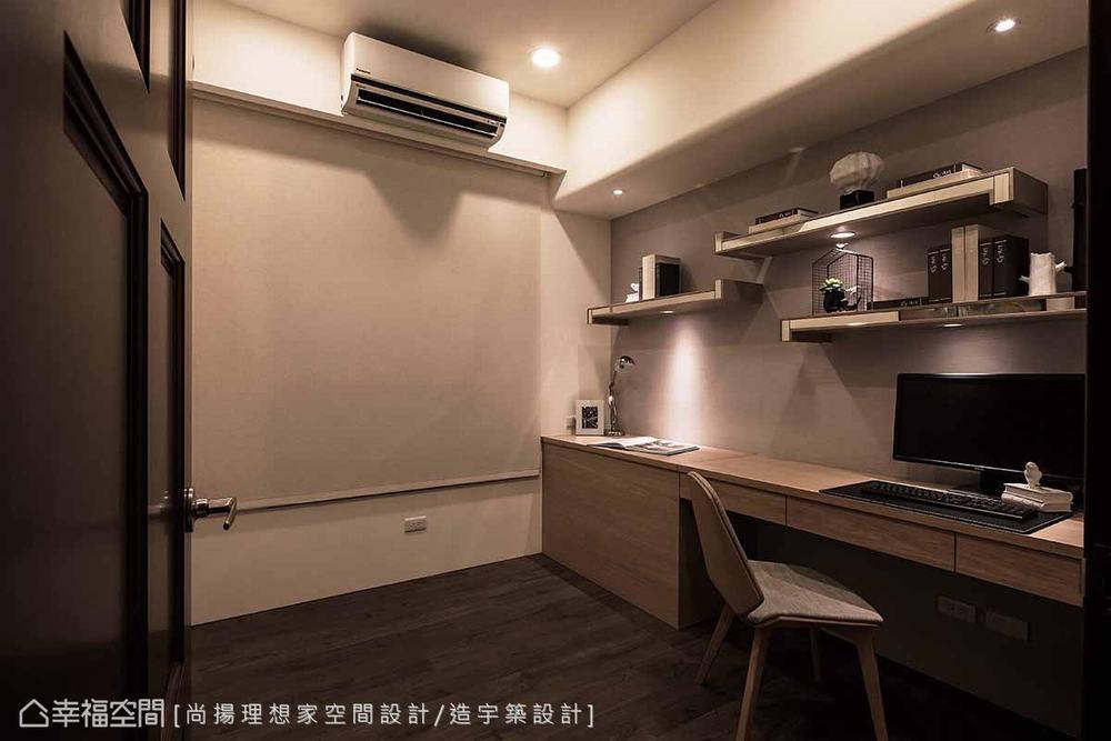 三居 现代 书房图片来自幸福空间在层迭馨暖 渲染165平沉稳静谧之家的分享