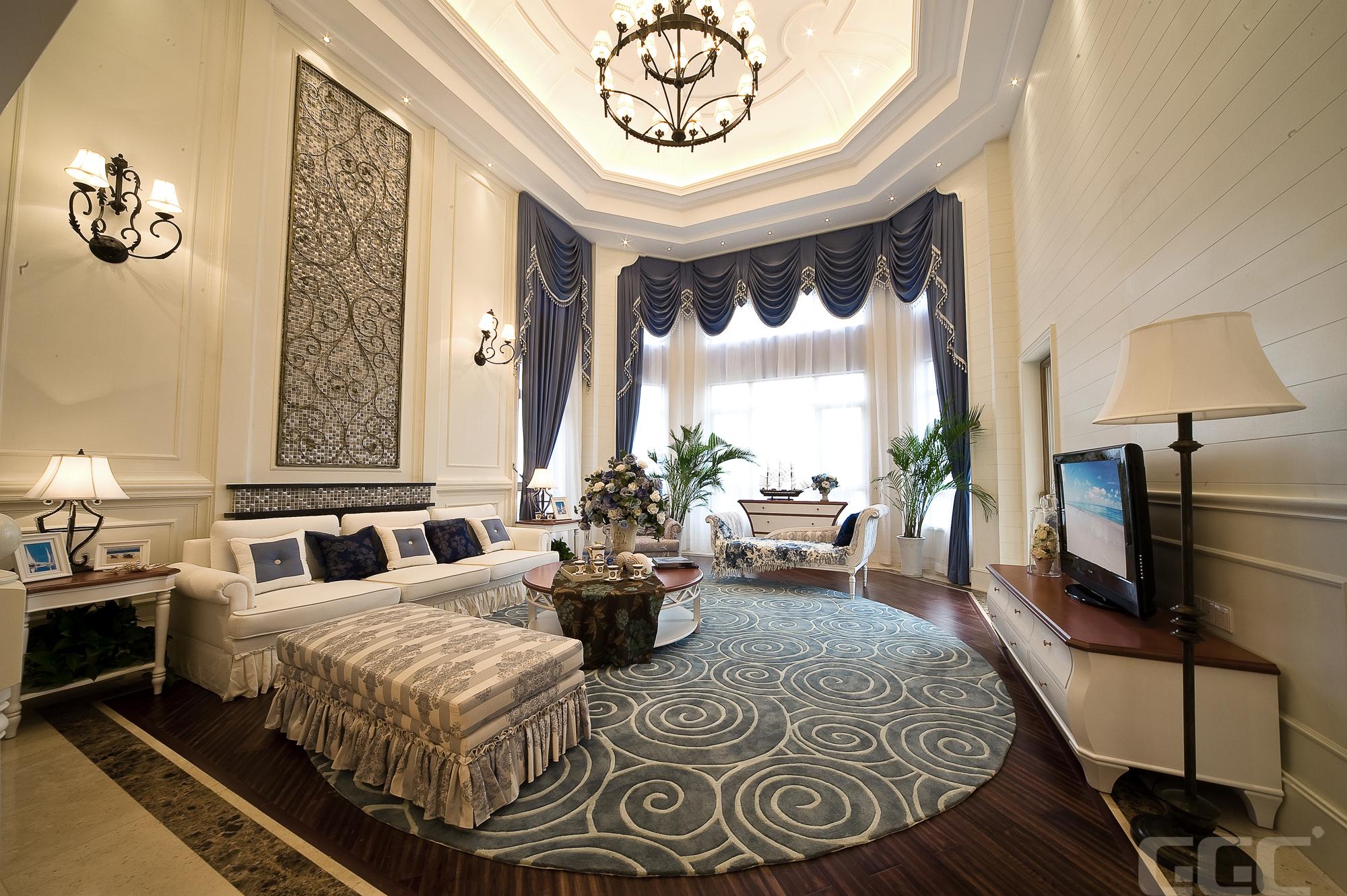 简约 欧式 混搭 田园 别墅 三居 旧房改造 小资 80后 客厅图片来自元洲装饰木子在地中海风格装修案例的分享
