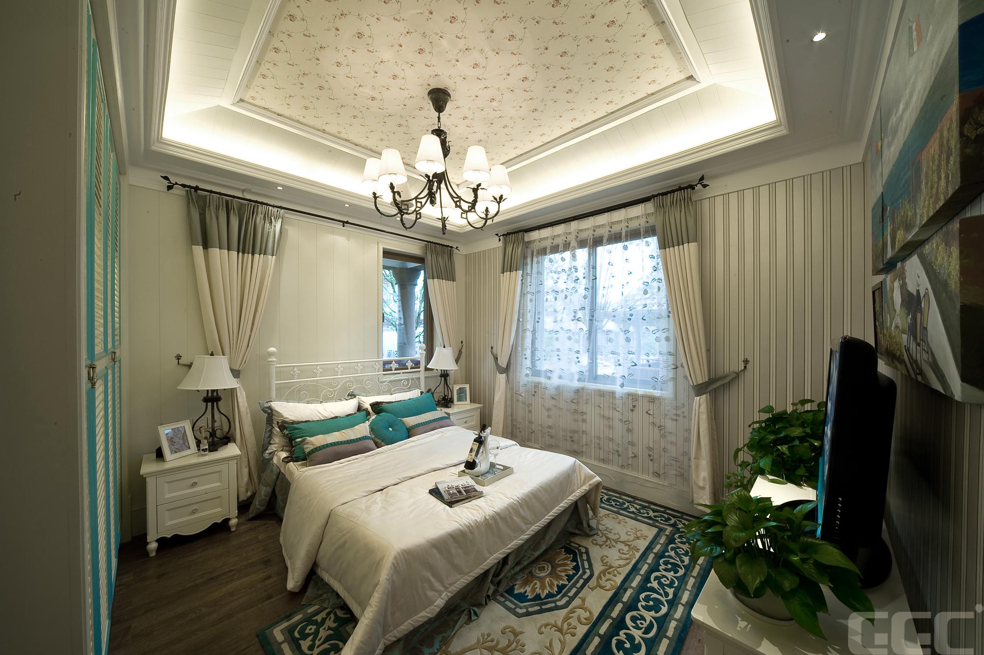 简约 欧式 混搭 田园 别墅 三居 旧房改造 小资 80后 卧室图片来自元洲装饰木子在地中海风格装修案例的分享