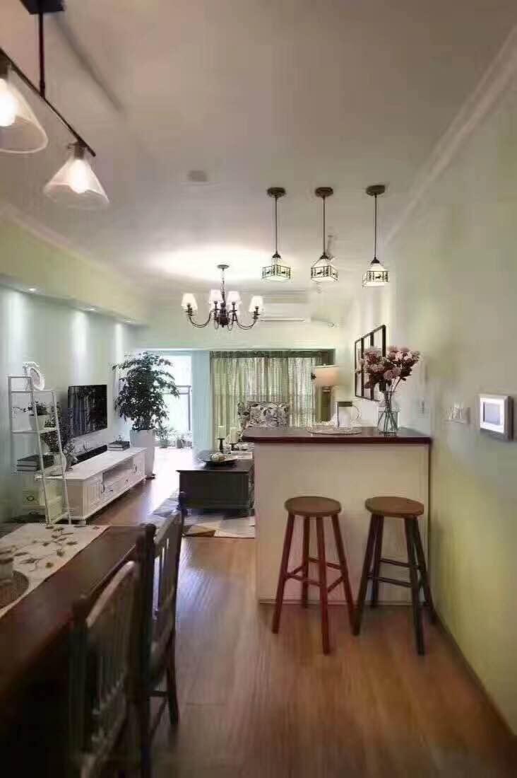 简约 小资 二居 餐厅图片来自西安峰光无限装饰在星雨华府84㎡三口之家地中海风格的分享