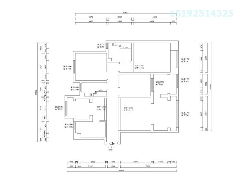 蓝泰海乐府 北欧 三居室 收纳 户型图图片来自快乐彩在蓝泰海乐府北欧三居125平装修的分享