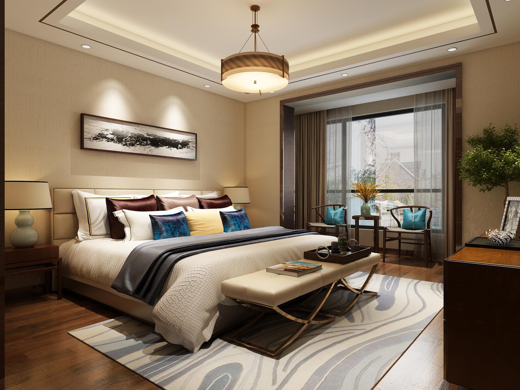 法式 四居 卧室图片来自轻舟装饰-90后的华仔在安园小区-160平米-新中式的分享