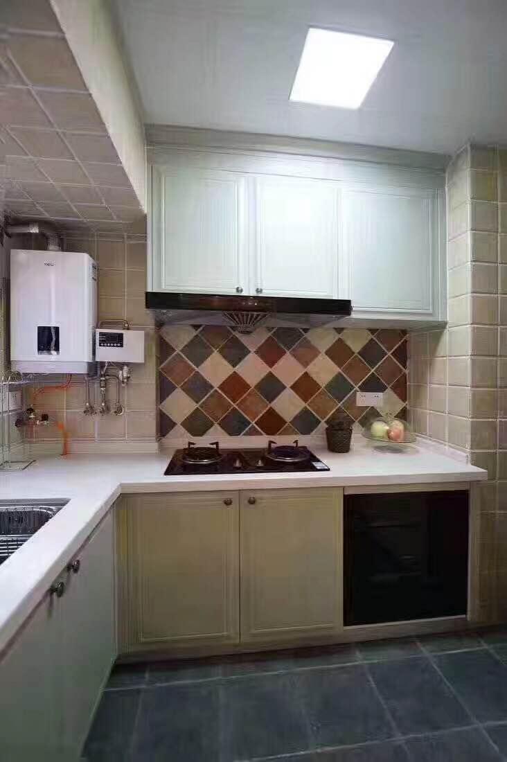 简约 小资 二居 厨房图片来自西安峰光无限装饰在星雨华府84㎡三口之家地中海风格的分享