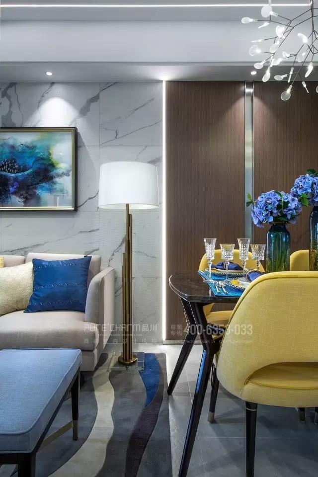 客厅图片来自品川室内设计在【品川设计】经典现代风格四的分享