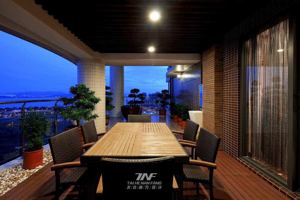 新中式风格 太合南方设 别墅毫宅 阳台图片来自王五平设计在京基御景东方豪宅的分享