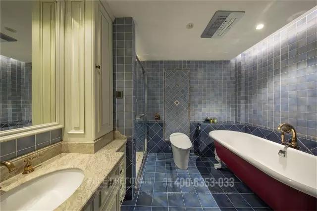 卫生间图片来自品川室内设计在【品川设计】经典现代风格三的分享