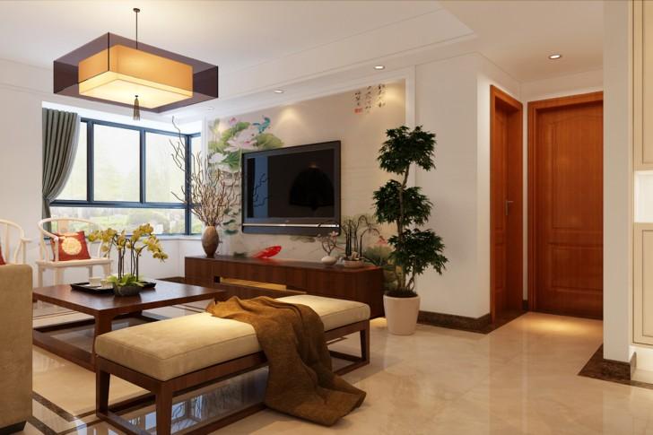 三居 小资 80后 客厅图片来自西安峰光无限装饰在华洲城熙悦都118㎡新中式的分享