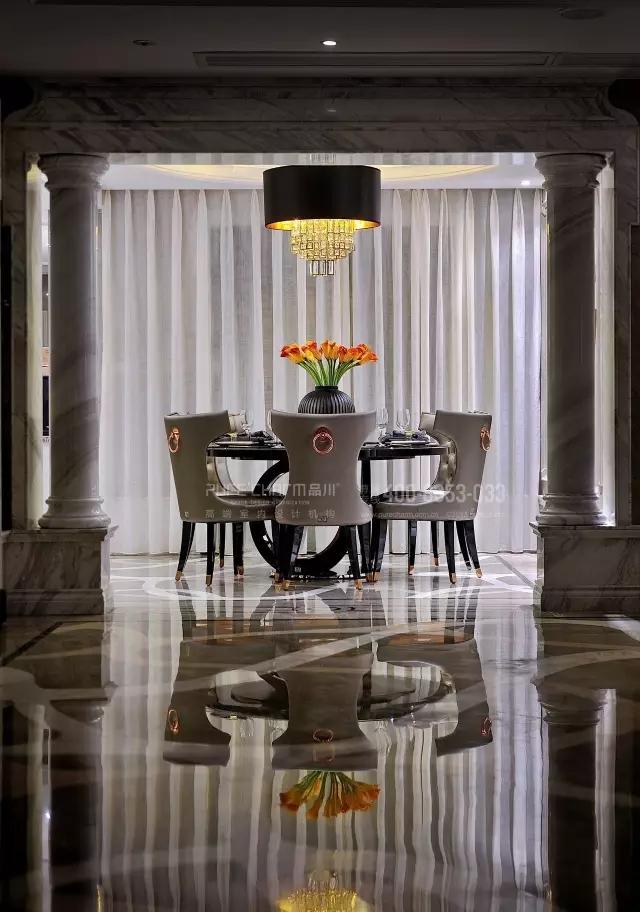 餐厅图片来自品川室内设计在【品川设计】经典现代风格三的分享