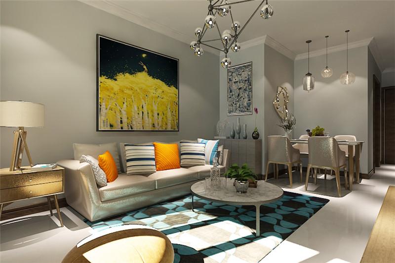 龙发装饰 润景家园 北欧 二居 装修设计 客厅图片来自遮天威武在默认专辑的分享