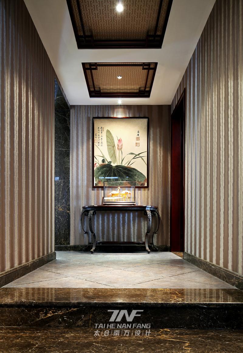 新中式风格 太合南方设 别墅毫宅 玄关图片来自王五平设计在京基御景东方豪宅的分享