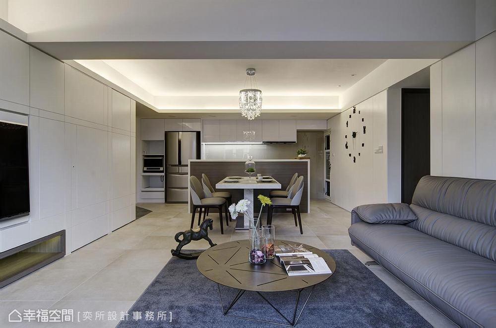 三居 现代 客厅图片来自幸福空间在通透明朗 描绘106平现代净亮居家的分享