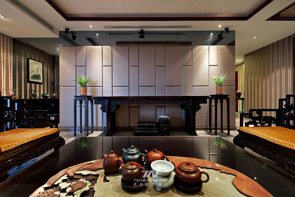 新中式风格 太合南方设 别墅毫宅 客厅图片来自王五平设计在京基御景东方豪宅的分享