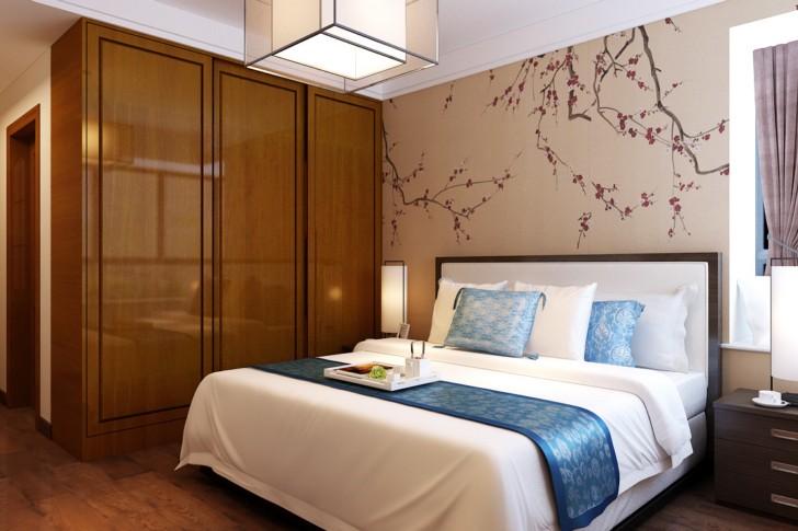 三居 小资 80后 卧室图片来自西安峰光无限装饰在华洲城熙悦都118㎡新中式的分享
