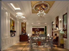 美式 别墅 高帅富 未来家 白富美 客厅图片来自高度国际姚吉智在892平米美式独栋别墅至尊新贵的分享