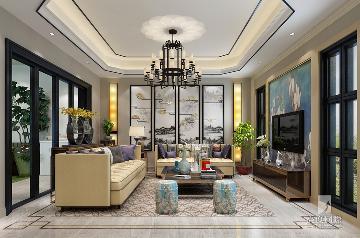 378平米排屋别墅筑造新中式风格