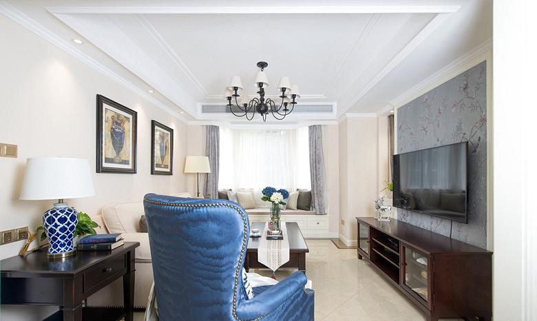 客厅图片来自家装大管家在淡雅色系 135平简约大气时尚3居的分享