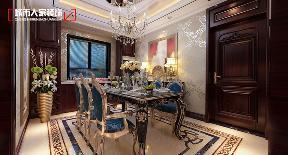 欧式 小资 装修 奢华 舒适 餐厅图片来自太原城市人家原卯午在奢华|湖滨晋庭220平米欧式设计的分享