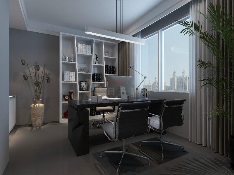 日升装饰 现代简约 现代办公室 西安办公司 其他图片来自装修设计芳芳在高级灰办公室设计的分享