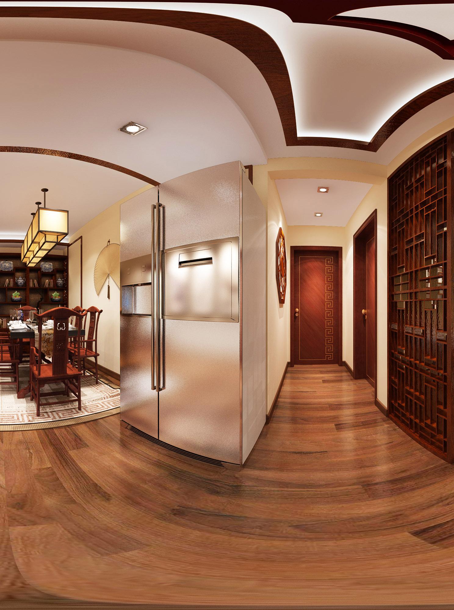中式 风格 二居 餐厅图片来自轻舟装饰-90后的华仔在融城-120平米-中式风格的分享