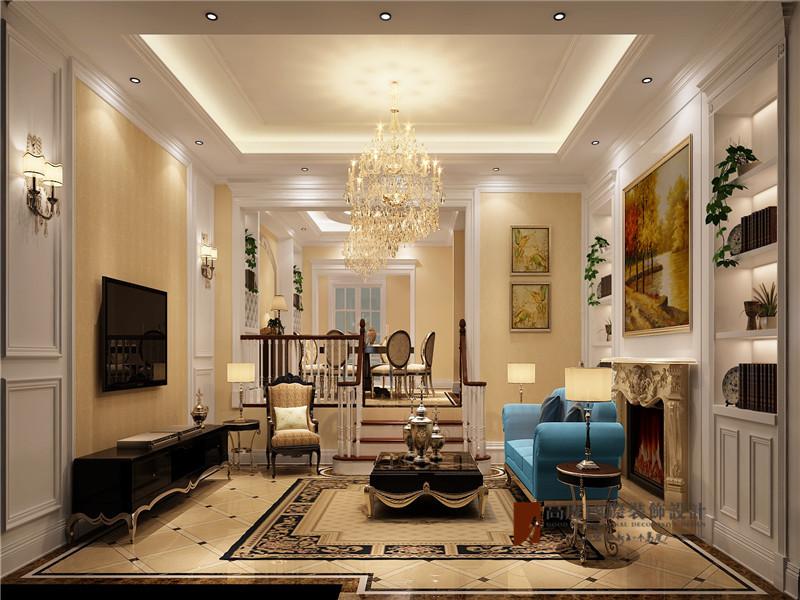 混搭 别墅 80后 小资 高帅富 客厅图片来自高度国际姚吉智在大学里孔雀城400平米混搭别墅的分享