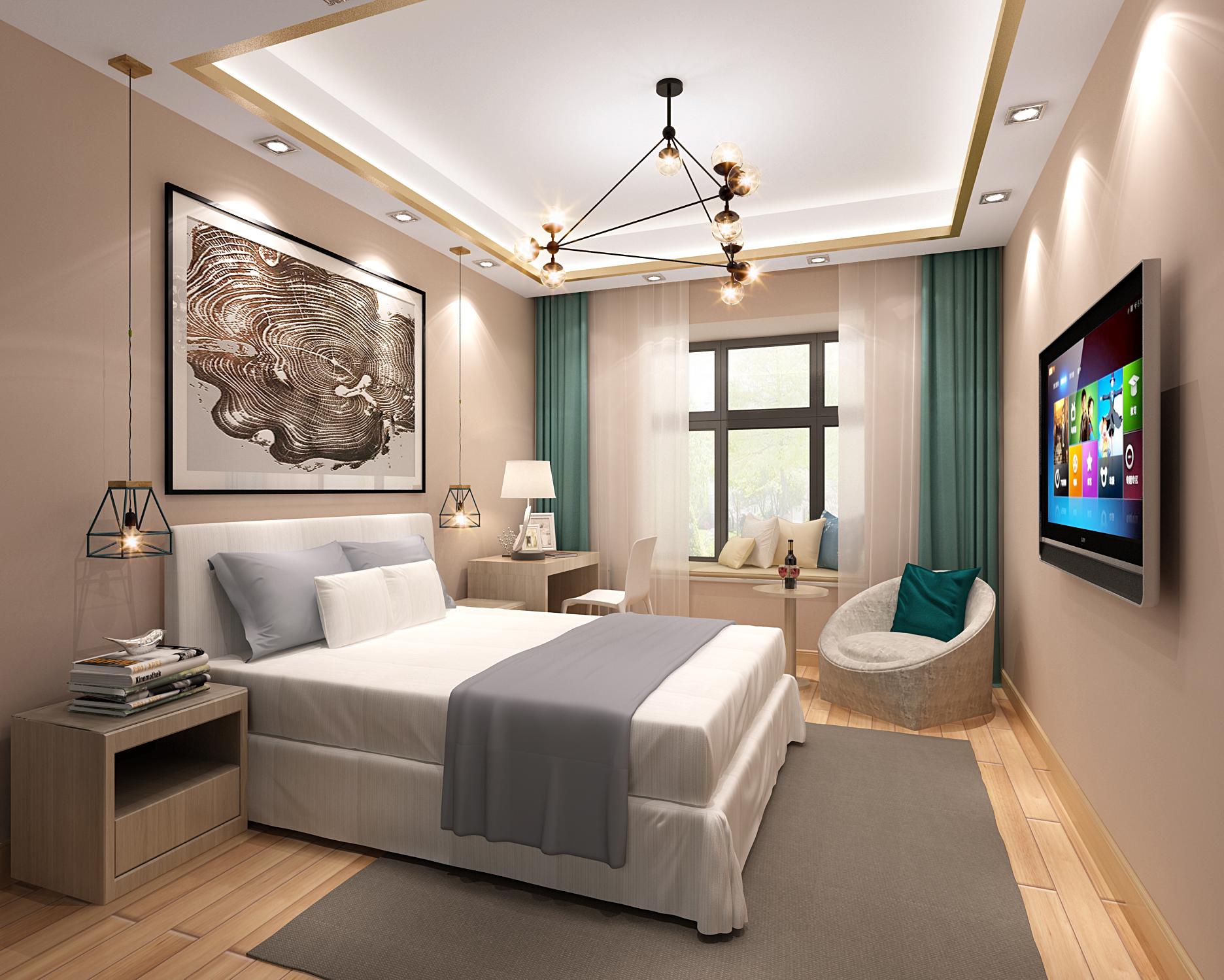 中式 风格 二居 卧室图片来自轻舟装饰-90后的华仔在融城-120平米-中式风格的分享