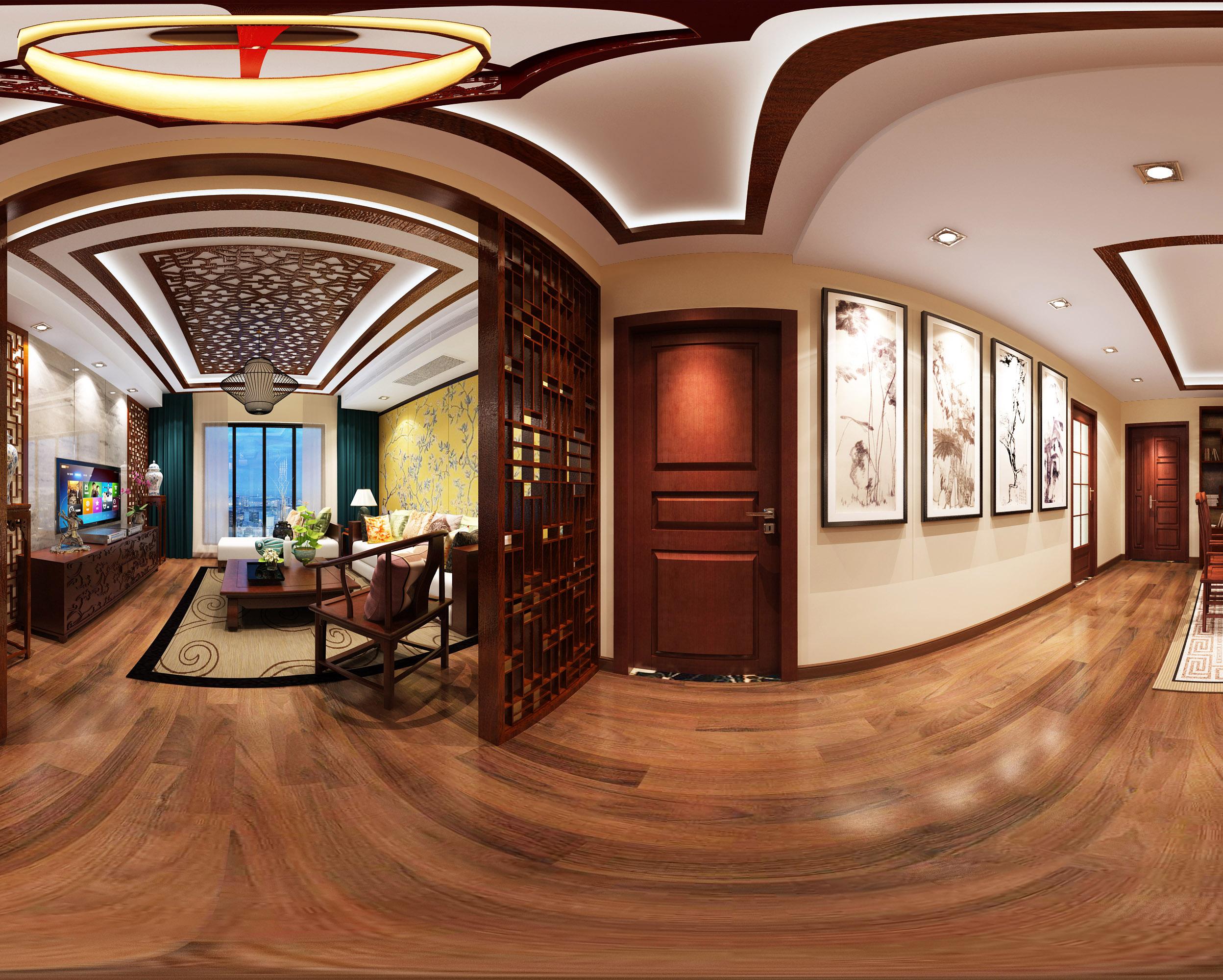 中式 风格 二居 客厅图片来自轻舟装饰-90后的华仔在融城-120平米-中式风格的分享