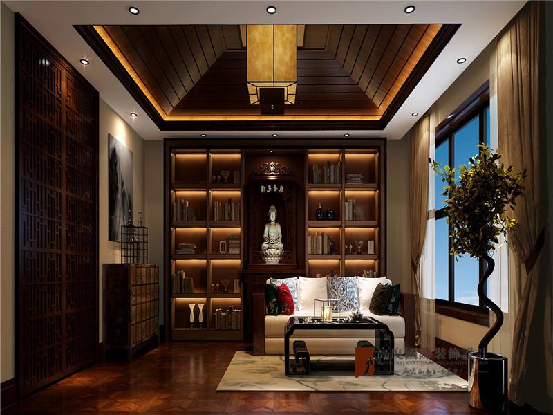 混搭 别墅 80后 小资 高帅富 书房图片来自高度国际姚吉智在大学里孔雀城400平米混搭别墅的分享