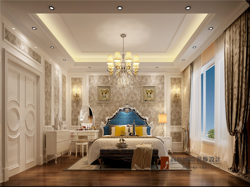 混搭 别墅 80后 小资 高帅富 卧室图片来自高度国际姚吉智在大学里孔雀城400平米混搭别墅的分享