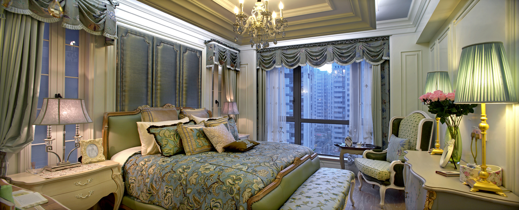 简约 欧式 田园 混搭 别墅 白领 收纳 旧房改造 古典风格 卧室图片来自元洲装饰木子在丰泽园欧式风格设计的分享