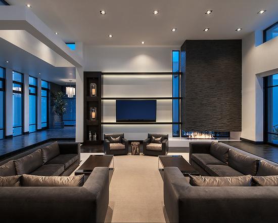简约 别墅 客厅图片来自别墅设计师杨洋在大气沉稳简约风格设计的分享