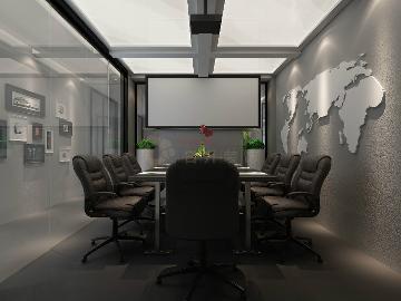 经典黑白灰460平办公室装修