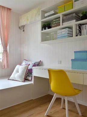 现代 三居 白领 收纳 小资 书房图片来自高度国际姚吉智在130平米现代休闲时尚活力三居室的分享