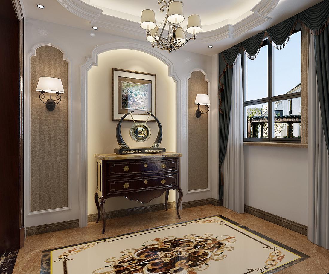 别墅 欧式 玄关图片来自轻舟装饰-90后的华仔在翡丽庄园-380平米-欧式风格的分享