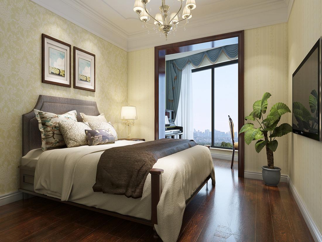 欧式 四居室 卧室图片来自轻舟装饰-90后的华仔在海晟名苑-160平米-简约欧式的分享