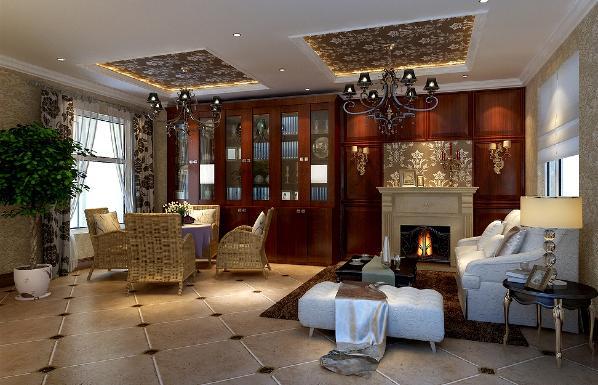 书房的设计遵循了简欧风格的设计法则——功能至上,形式服从功能。它既保留了古典欧式的典雅与豪华,又更适应现代生活的休闲与舒适。