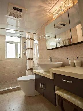 美式 三居 80后 小资 白领 卫生间图片来自高度国际姚吉智在110平米美式复古温馨浪漫三居室的分享