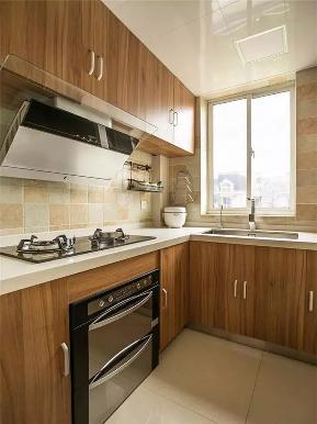 美式 三居 80后 小资 白领 厨房图片来自高度国际姚吉智在110平米美式复古温馨浪漫三居室的分享