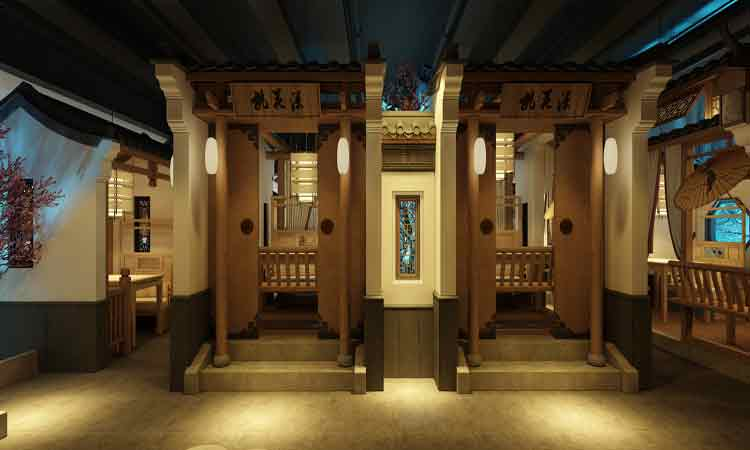 欧式 简约 田园 混搭图片来自上海赫筑餐厅设计事务所在餐厅空间设计的分享