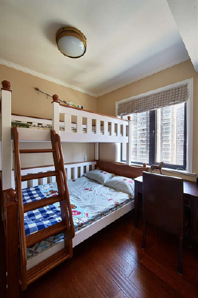 简约 混搭 三居 美式 收纳 80后 小资 儿童房图片来自乐粉_20170523094252350在家里吹来的简约美式风的分享