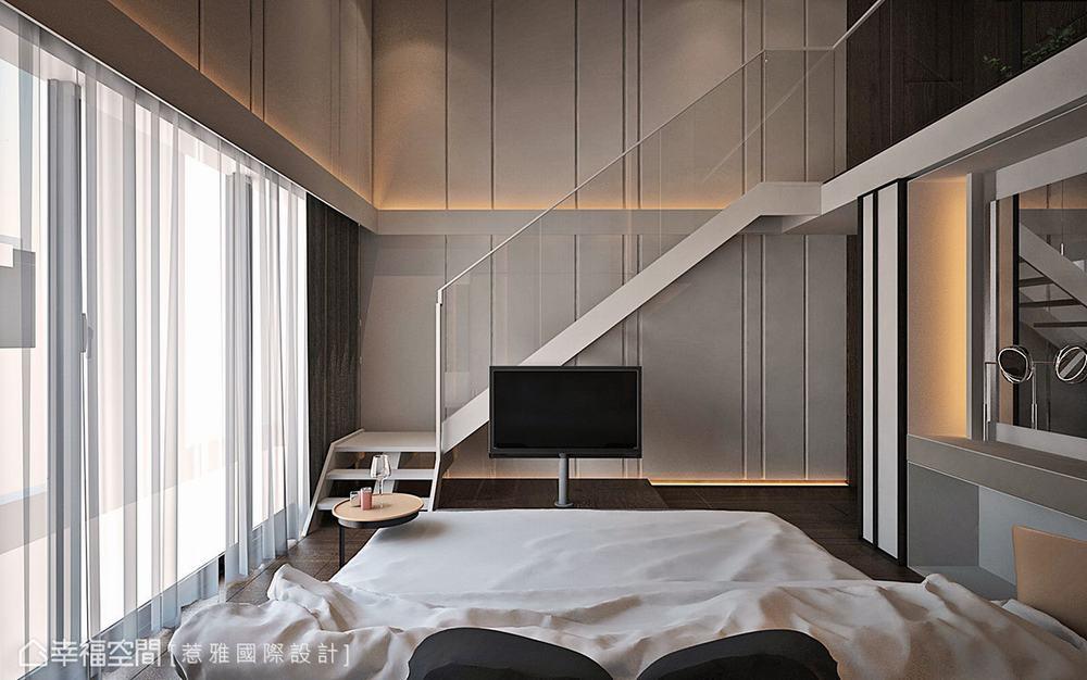 别墅 现代 四居 卧室图片来自幸福空间在穿越 苏园的分享