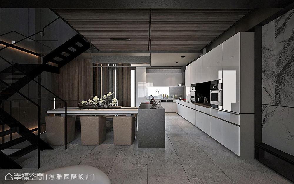 别墅 现代 四居 餐厅图片来自幸福空间在穿越 苏园的分享