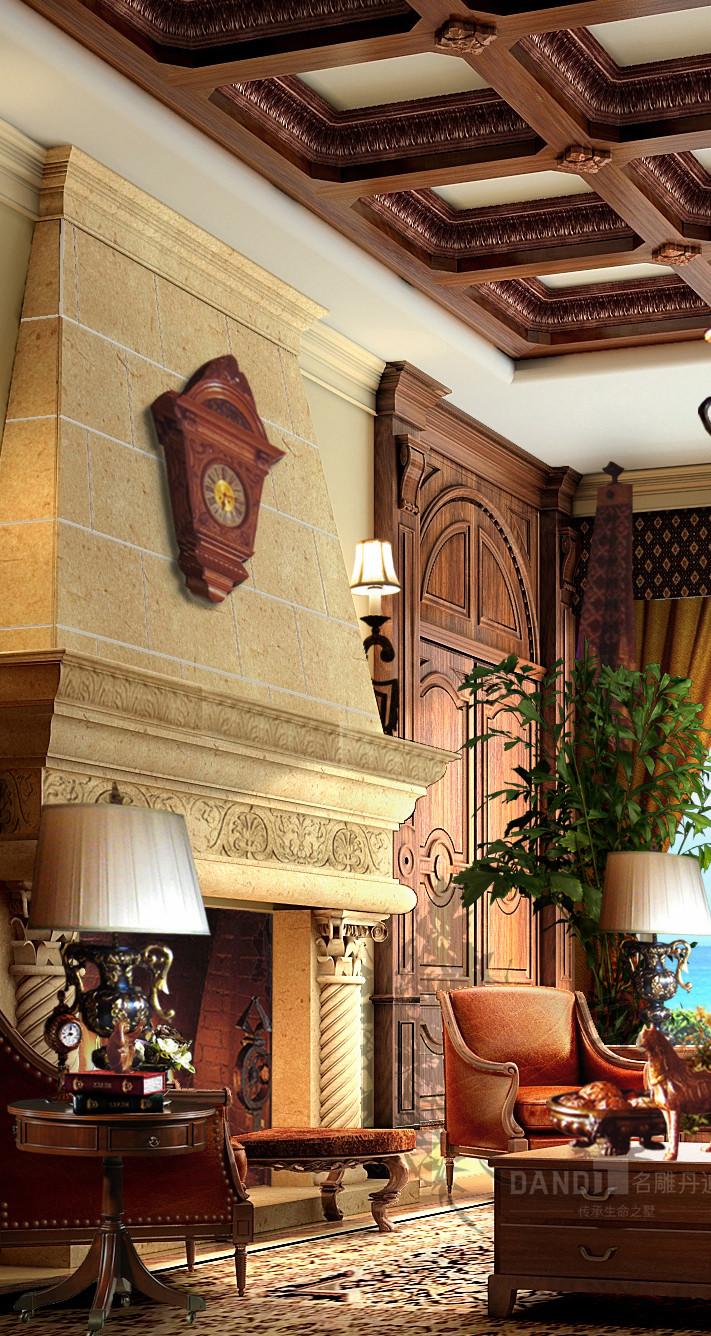 欧式 美式 混搭 别墅 客厅图片来自名雕丹迪在观澜大宅别墅美式风格装修的分享