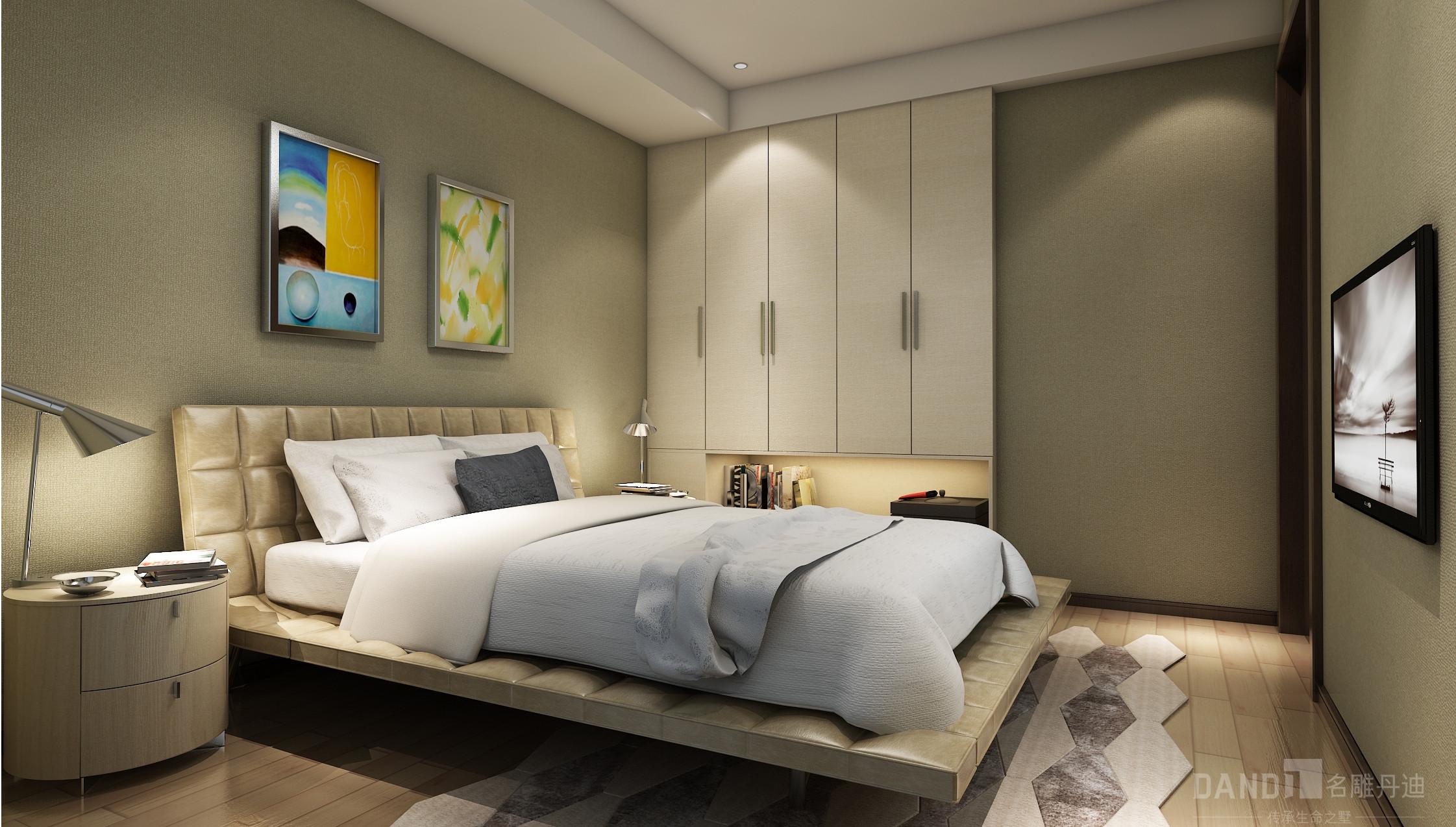 简约 混搭 别墅 新中式 卧室图片来自名雕丹迪在万科璞悦山别墅新中式装修风格的分享
