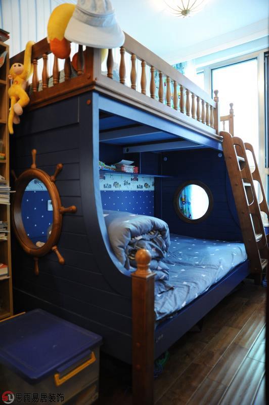 二居 美式 70平 儿童房图片来自思雨易居设计在《雅舍》北京70平2居美式实景的分享