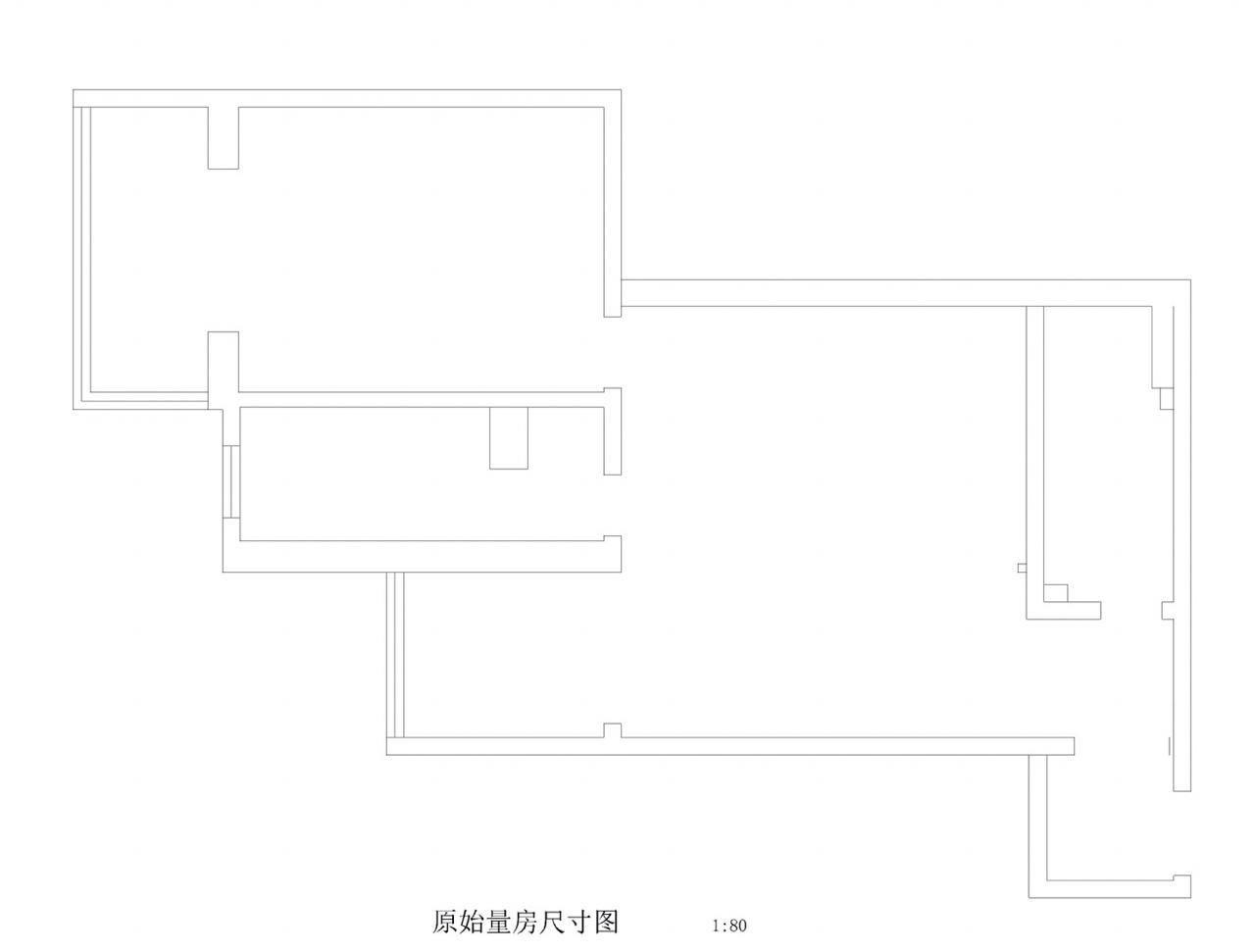 二居 美式 70平 户型图图片来自思雨易居设计在《雅舍》北京70平2居美式实景的分享