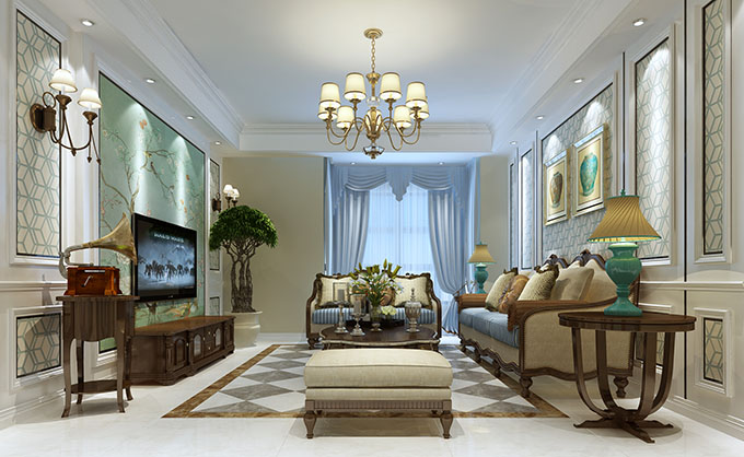 简约 三居 80后 白领 客厅图片来自盛星装饰小傅在翡翠水城的分享