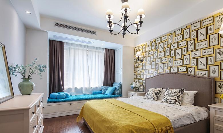 卧室图片来自家装大管家在136平美式地中海3居 美得我醉了的分享