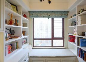 简约 田园 混搭 三居 白领 成都设计 成都装修 80后 书房图片来自乐粉_20170523094252350在135㎡——生活的别样情怀的分享